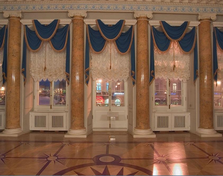 Шторы в дворцовом стиле